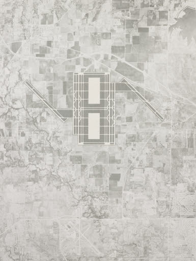 Aerial Map (Proposal for the Dallas-Fort Worth Regional Airport), 1967