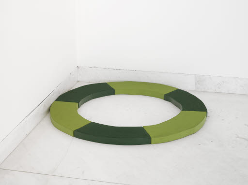 Light and Dark Green Circle, 1965